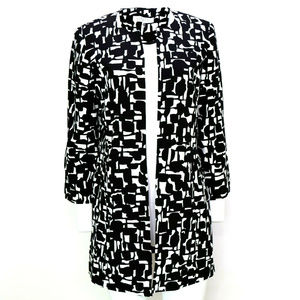 Kasper Womens Printed Long Dressy Jacket